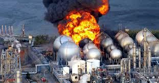 Fogo em parque de Esferas de gás